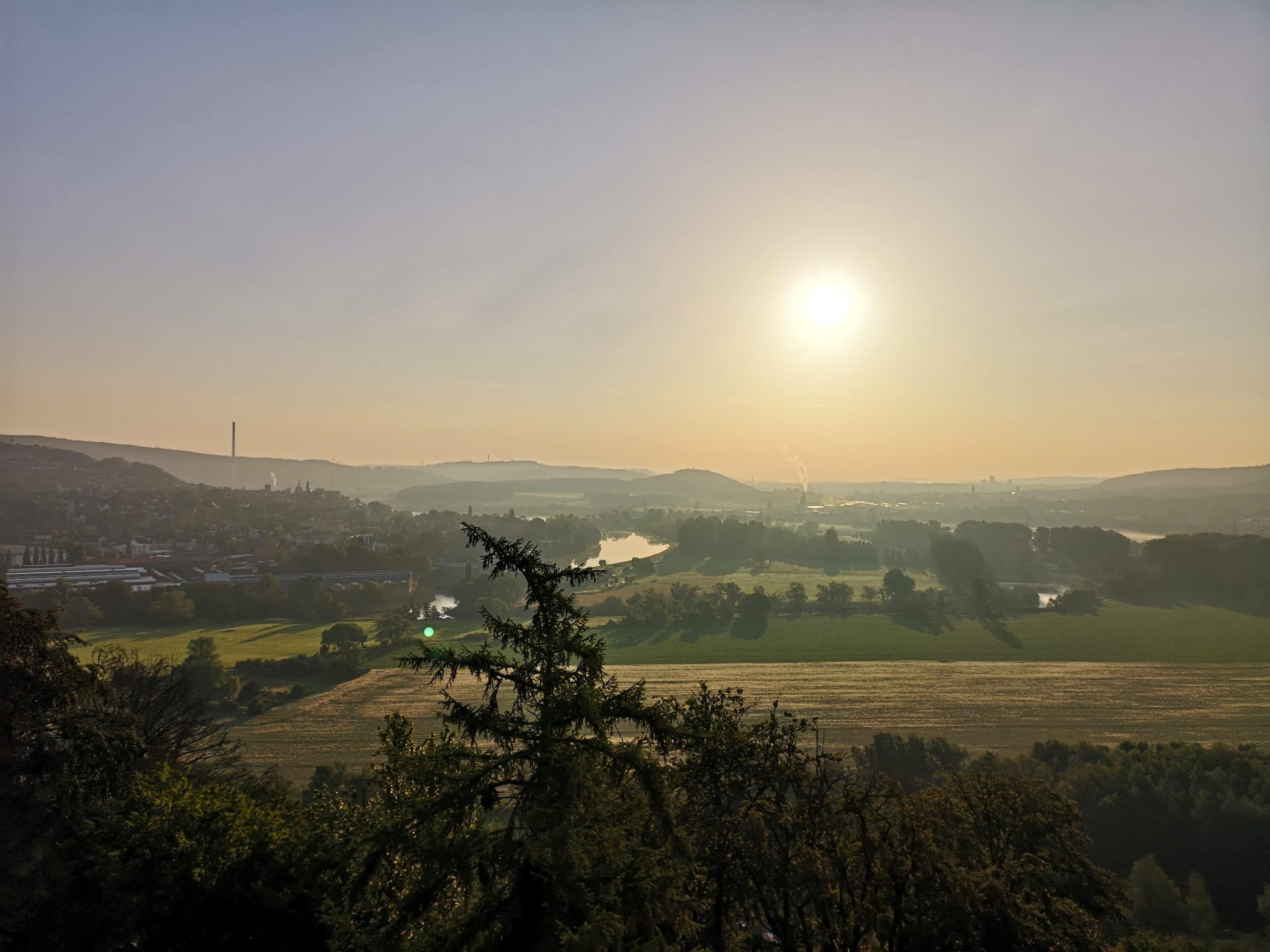 Blick über das Ruhrtal am Morgen